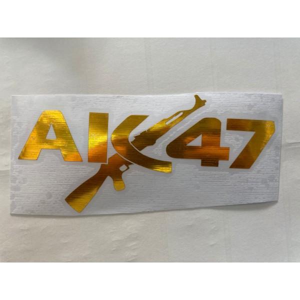AK 47 STİCKER GOLD